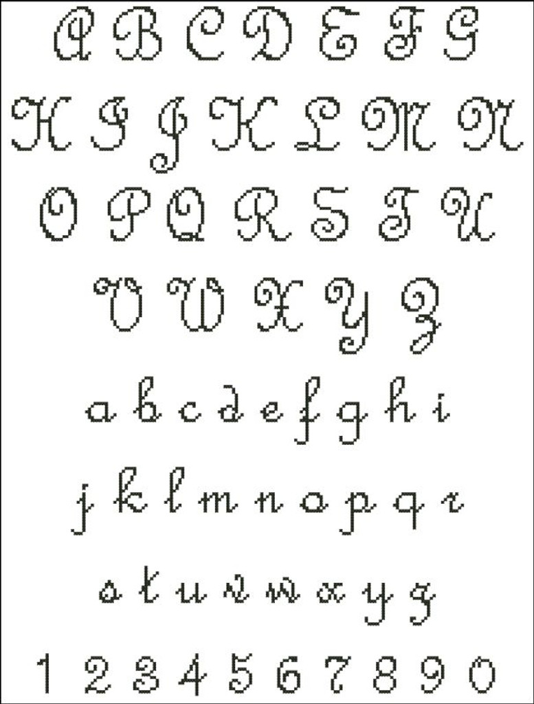 French Script Alphabet