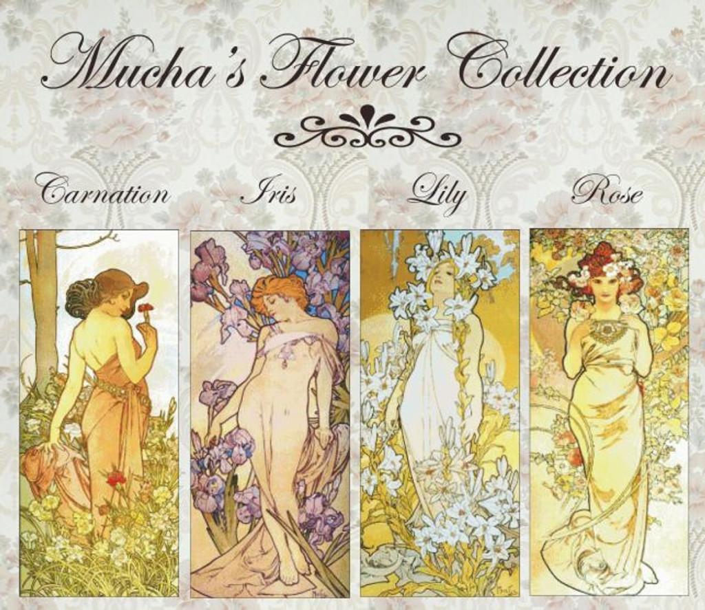 Mucha's Flower Cross Stitch Collection