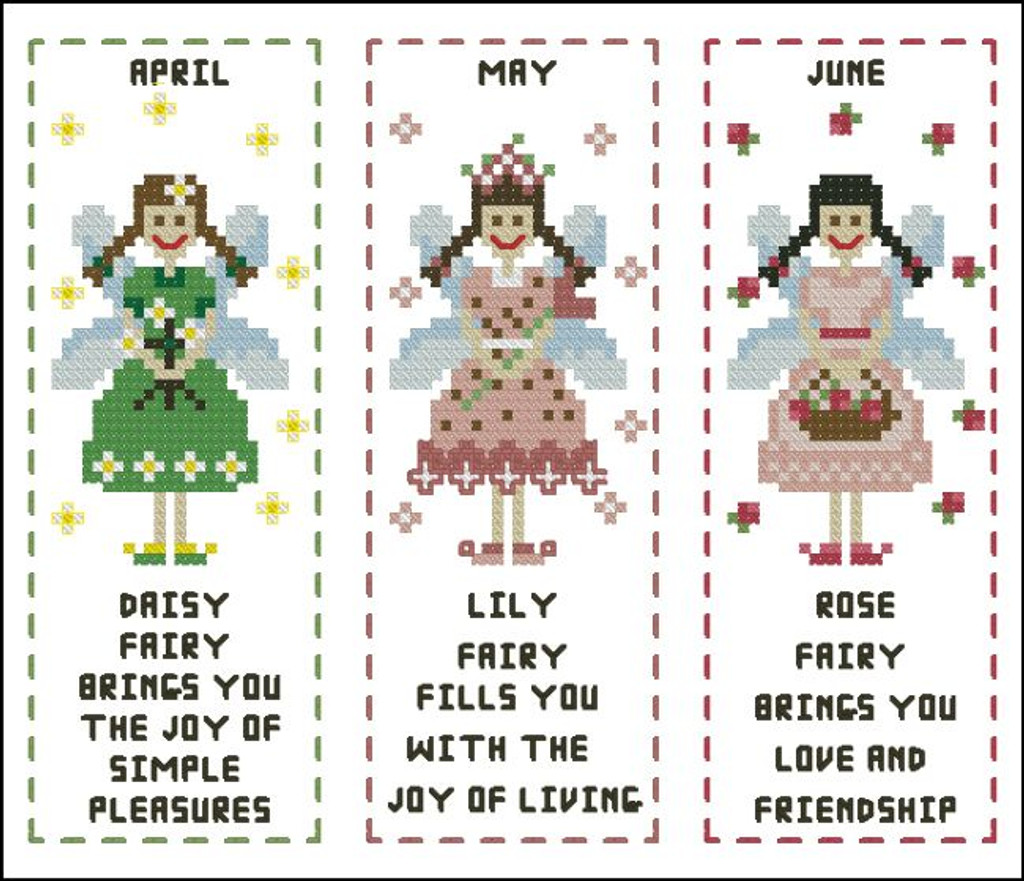 Flower Fairy Bookmark April to June