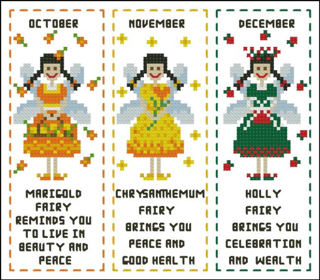 Flower Fairy Bookmark Oct to December