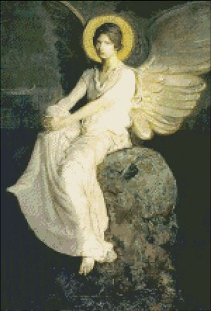Winged Figure on a Rock