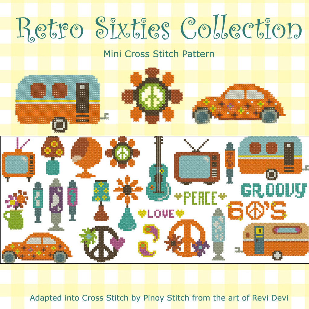 Retro Sixties Collection Cross Stitch Pattern