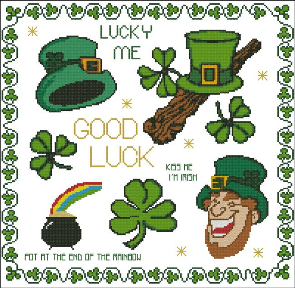 Good Luck Clover Shamrock St Patrick