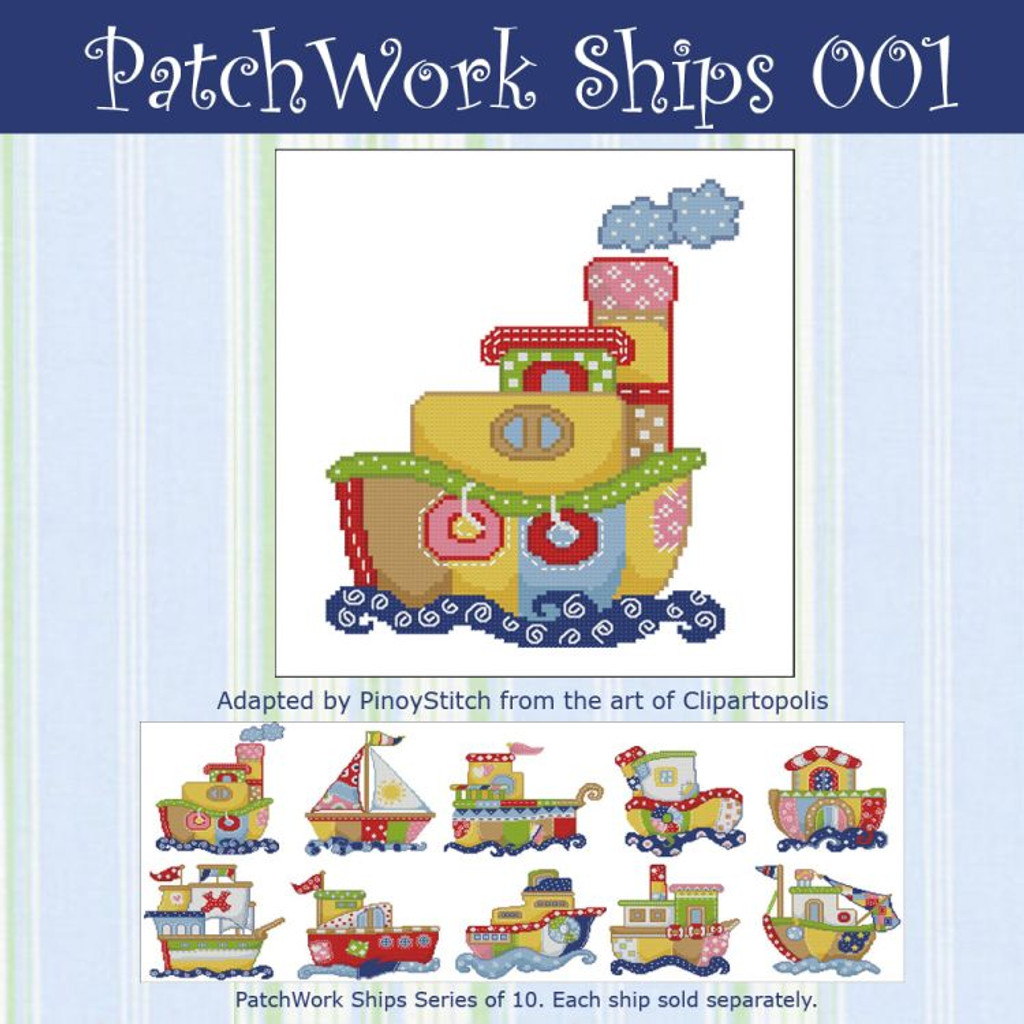 Patchwork Ships 001