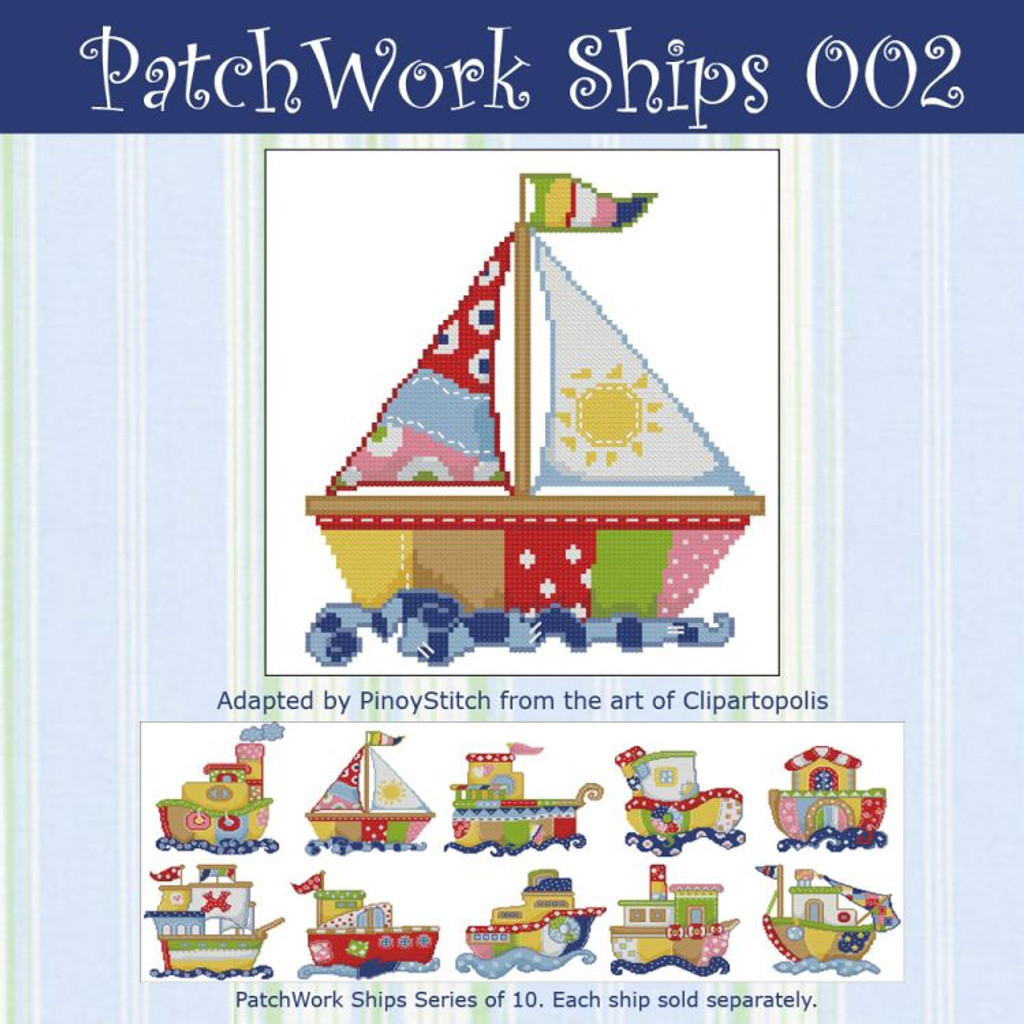 Patchwork Ships 002