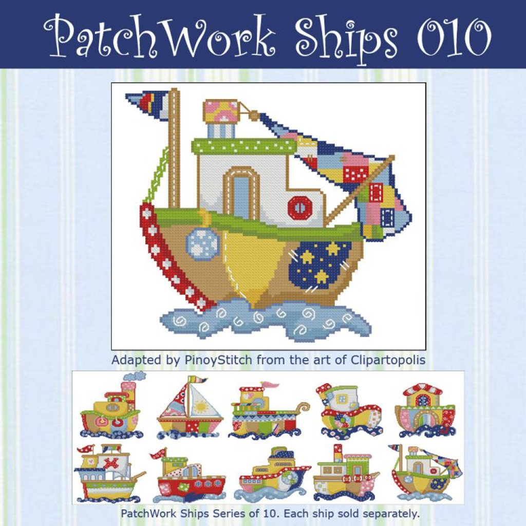 Patchwork Ships 010