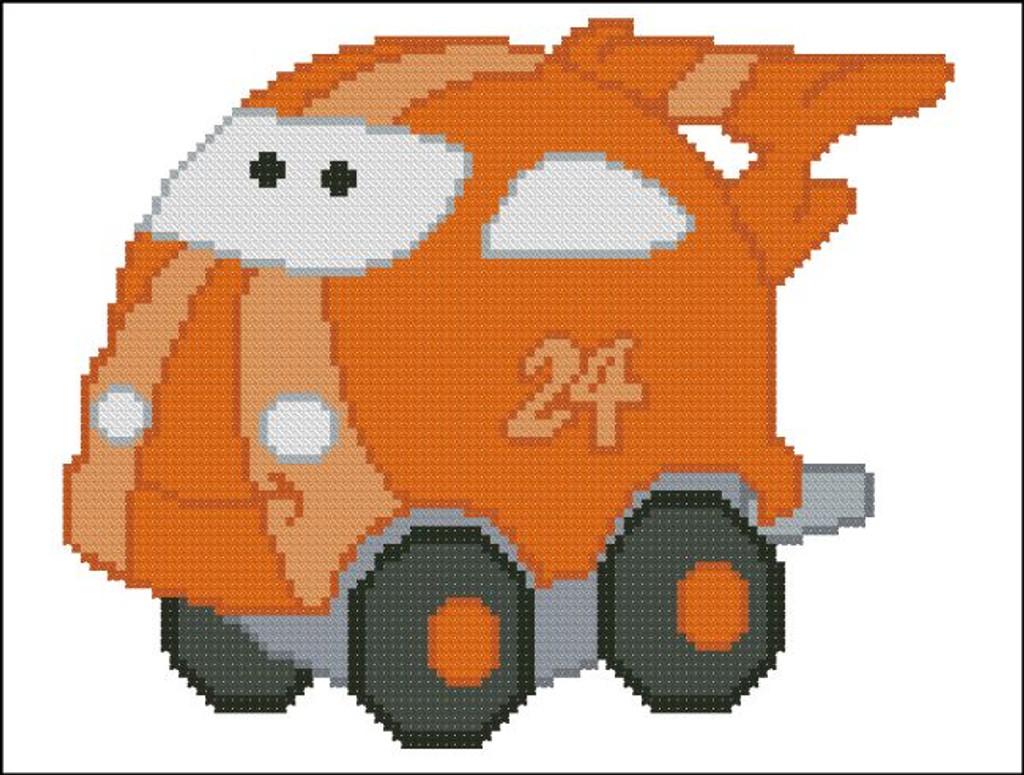 Chubby Race Cars 008 Orange Spicevet