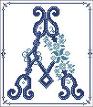 Decorative Blue Alphabet A