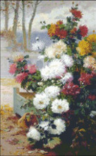 Chrysanthemums by Cauchois