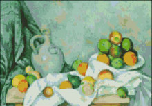 Jug, Drapery, Fruits