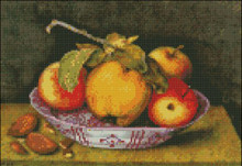 Plate with Apples and Almonds