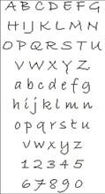 Hand Writing Stylish Alphabet
