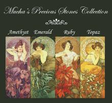 Mucha's Precious Stones Cross Stitch Pattern