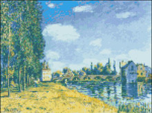 Bridge at Moret in Summer