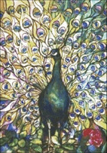 Fine Peacock Stained Glass