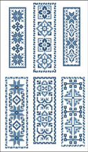 Victorian Bookmarks Blue Collection