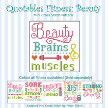 Quotables Fitness Beauty Sports Cross Stitch Pattern