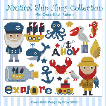 Nautical Ship Ahoy Collection Cross Stitch Pattern