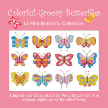 Colorful Groovy Butterflies