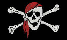 Pirate Symbol- Skull Red Bandanna