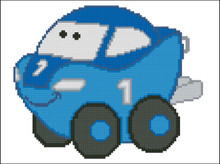 Chubby Race Cars 006 Blue VaBoom
