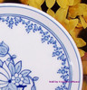 Blue & White Spring Flower Plate by Hof-Moschendorf Bavaria Germany Vintage 1930s German Designer Transferware Gift