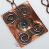 Copper Flower Medallion Pendant Necklace Vintage 1970s Designer Fashion Jewelry Gift