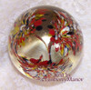 Confetti Art Glass Paperweight w/Frit Flowers & Bubbles Made in India Artisan Paper Weight Vintage 1970s Handblown Gift