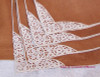 Tan & White Lace Edged Placemat and Napkin Set, Vintage Mid Century Linen Gift