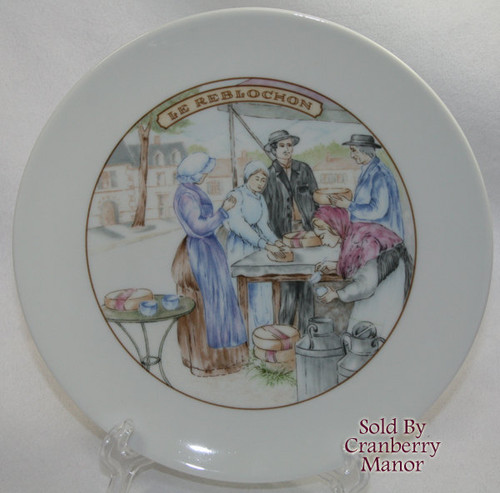 Le Reblochon Cheese Bistro Cafe Plate by Apilco France Lunch Vintage 1980s French Designer Gift
