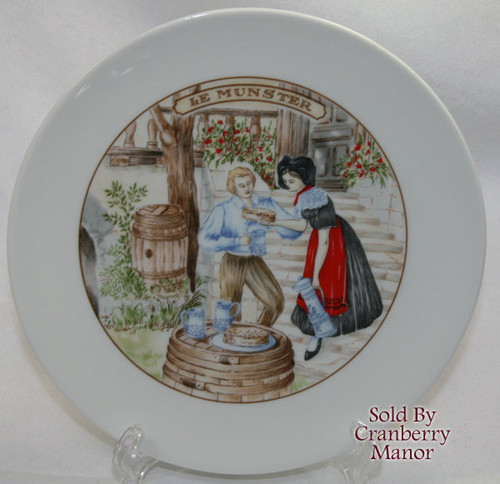 Le Munster Cheese Bistro Cafe Plate by Apilco France Vintage 1980s French Designer Gift