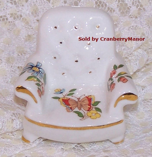 Aynsley Cottage Garden Miniature Butterfly Chair from England Vintage 1990s English Designer Fine Bone China Gift