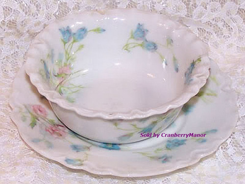 Theodore Haviland Limoges Berry Bowl & Plate for Yost-Dohrmann California from France Vintage 1920s French Designer Gift