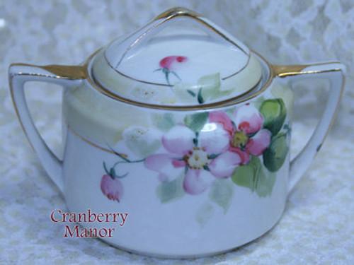 Antique Noritake Nippon Japan Pink Rose Sugar Or Mustard Bowl Vintage 1910s Japanese Designer Gift