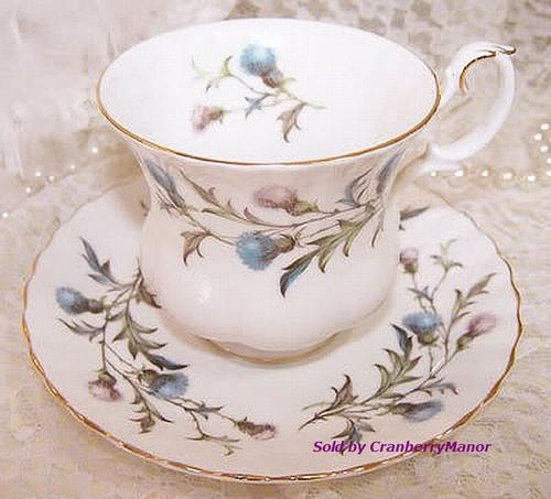 Royal Albert Brigadoon Tea Cup & Saucer from England Vintage 1980s English Designer Fine Bone China Gift