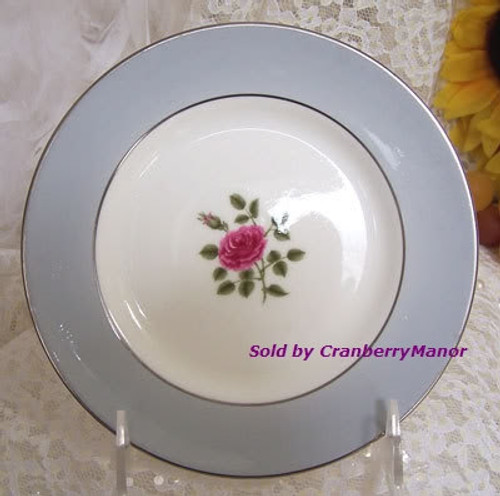 Royal Doulton Chateau Rose #H4940 Bread & Butter Plate from England Vintage Mid Century 1960s English Designer Fine Bone China Gift