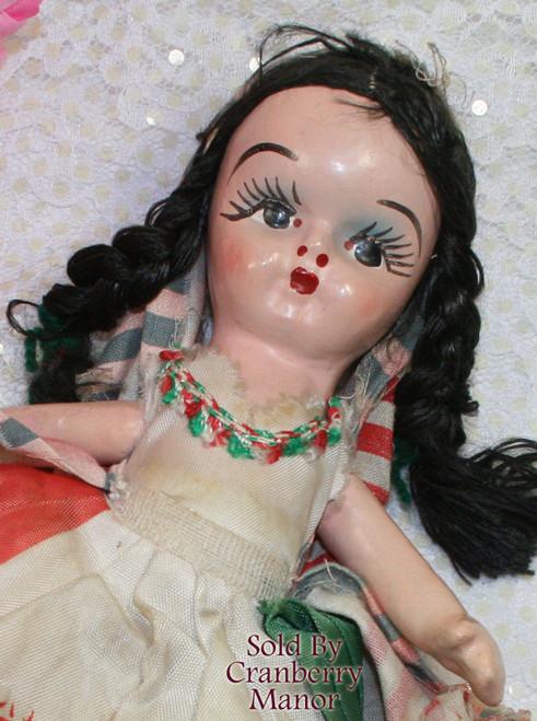 Composition Noche Buena Toy Doll from Mexico Good Night Cultural Souvenir Vintage 1930s Depression Era Mexican Folk Art Designer Gift