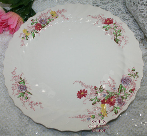 "Fairy Dell 13"" Round Chop Plate by Copeland Spode England Vintage Mid Century 1950s English Designer Platter Dish Gift"