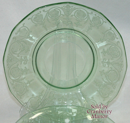 Fostoria Vernon Depression Glass Plate Vintage 1930s American Designer Gift
