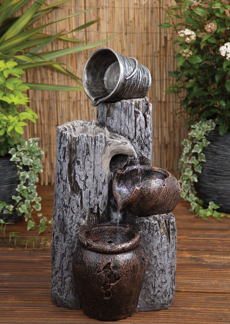 Liberty Woodland Pail and Urns Water Feature