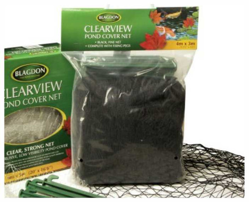 Blagdon Clearview Fine Black Pond Cover Netting 6x4m