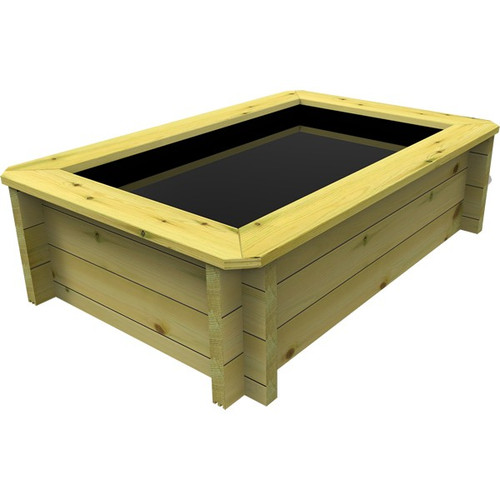 1.5m x 1m Rectangular Wooden Fish Pond (27mm Wood, 42cm Height)
