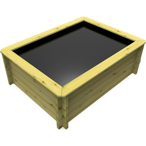 1.5m x 1m Rectangular Wooden Fish Pond (44mm Wood, 69cm Height)