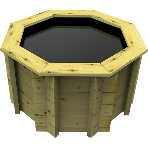 4ft Octagonal Wooden Fish Pond (44mm Wood, 80cm Height)