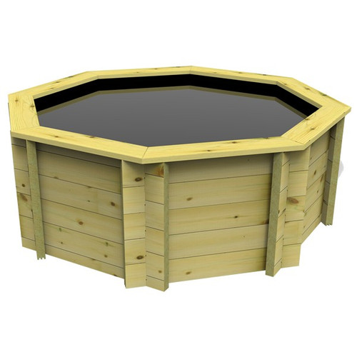 6ft Octagonal Wooden Fish Pond (44mm Wood, 107cm Height)