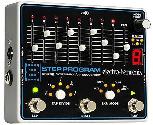 Electro Harmonix 8-STEP PROGRAM Analog Expression/CV Sequencer, 9.6DC-200 PSU included