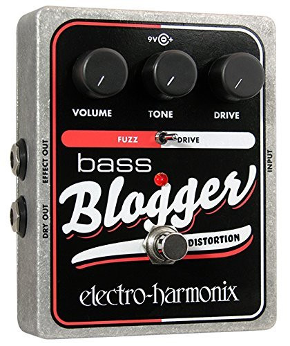 Electro Harmonix BASS BLOGGER Distortion Overdrive Battery inc, 9.6DC-200 PSU optional