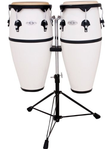 Toca a 2300FWH Synergy Series Fiberglass Conga Set with Stand - White