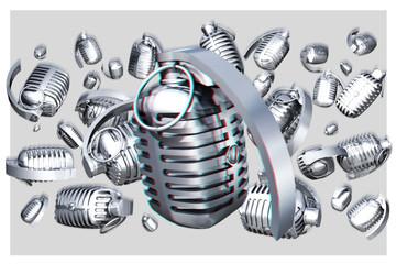 Suspended Microphones