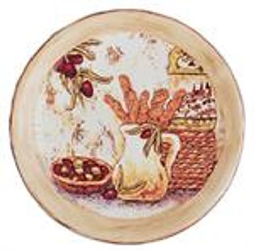 Appetizer Ceramic Plate Box Set Of 4 Olive Theme
